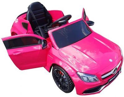 Accu Auto Mercedes C63s-AMG Roze Metallic 12V Rubber Banden-10