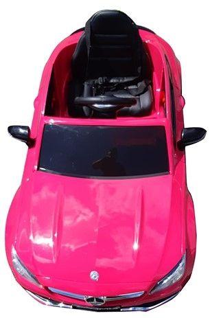 Accu Auto Mercedes C63s-AMG Roze Metallic 12V Rubber Banden-5
