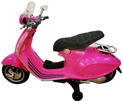 Accu Vespa Scooter Primavera 12V Roze-1