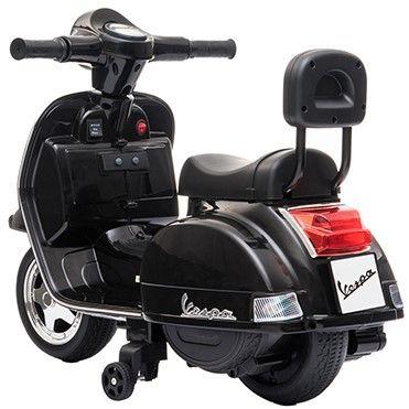 Accu Mini Vespa PX Scooter 6V Zwart-2