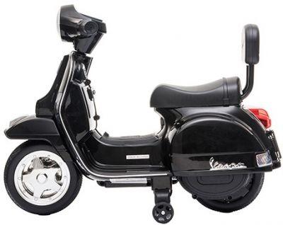 Accu Mini Vespa PX Scooter 6V Zwart-1