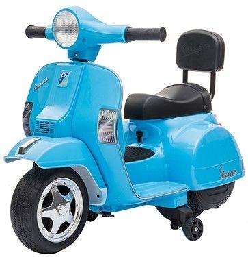 Accu Mini Vespa PX Scooter 6V Blauw