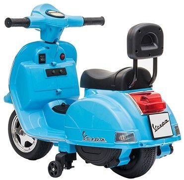 Accu Mini Vespa PX Scooter 6V Blauw-2