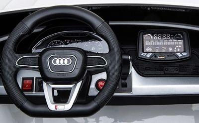 Accu Auto Audi Q5 Wit MP4 TV-Scherm 4X4 2 Persoons Rubber Banden-3