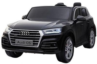 Accu Auto Audi Q5 Zwart Metallic MP4 TV-Scherm 4X4 2 Persoons Rubber Banden