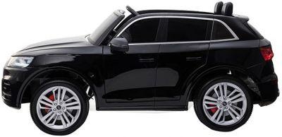 Accu Auto Audi Q5 Zwart Metallic MP4 TV-Scherm 4X4 2 Persoons Rubber Banden-1