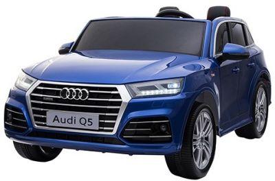Accu Auto Audi Q5 Blauw Metallic MP4 TV-Scherm 4X4 2 Persoons Rubber Banden