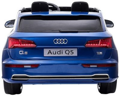 Accu Auto Audi Q5 Blauw Metallic MP4 TV-Scherm 4X4 2 Persoons Rubber Banden-2