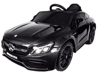Accu Auto Mercedes C63s-AMG Zwart Metallic 12V Rubber Banden