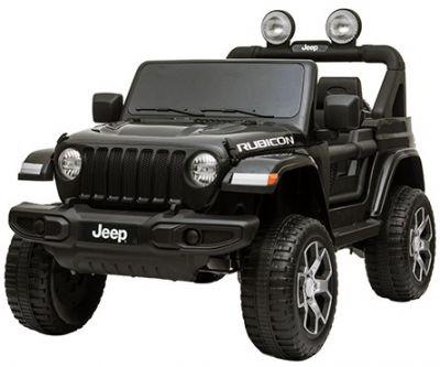 Accu Jeep Wrangler Rubicon Zwart Metallic MP4 Scherm 12V 4X4 2.4G