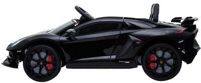 Accu Auto Lamborghini Aventador SVJ 12V Zwart 2,4G Lederen Stoel-1