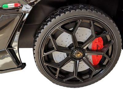 Accu Auto Lamborghini Aventador SVJ 12V Wit 2,4G Lederen Stoel -2