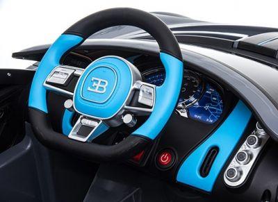Accu Auto Bugatti Divo 12V Zwart Metallic 2,4G Lederen Stoel Rubber banden-3
