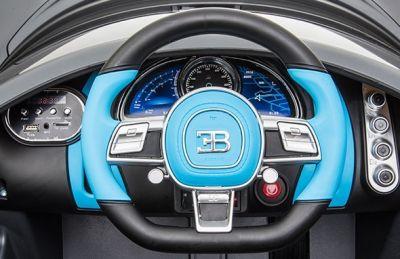Accu Auto Bugatti Divo 12V Mat Grijs 2,4G Lederen Stoel Rubber banden-4