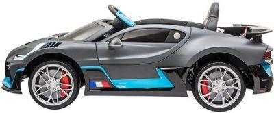 Accu Auto Bugatti Divo 12V Mat Grijs 2,4G Lederen Stoel Rubber banden-1