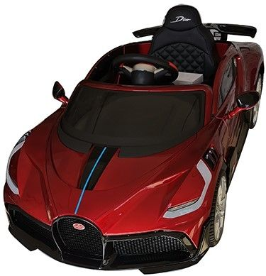 Accu Auto Bugatti Divo 12V Rood Metallic 2,4G Lederen Stoel Rubber banden-1