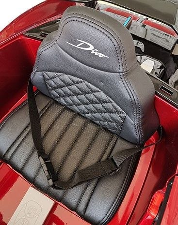 Accu Auto Bugatti Divo 12V Wit 2,4G Lederen Stoel Rubber Banden-4