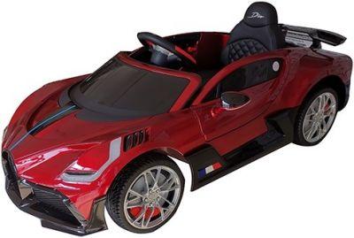 Accu Auto Bugatti Divo 12V Rood Metallic 2,4G Lederen Stoel Rubber banden