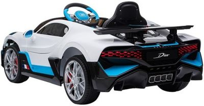 Accu Auto Bugatti Divo 12V Wit 2,4G Lederen Stoel Rubber Banden-2