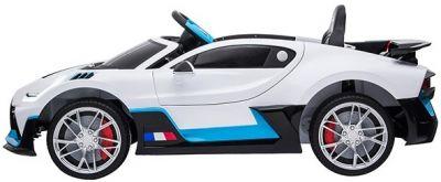 Accu Auto Bugatti Divo 12V Wit 2,4G Lederen Stoel Rubber Banden-1