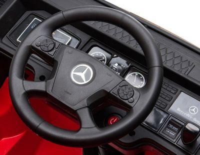 Accu Auto Mercedes Actros Truck 4X4 12V Zwart Metallic Rubber Banden-4