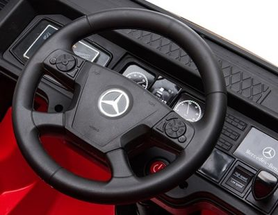 Accu Auto Mercedes Actros Truck 4X4 12V Wit Rubber Banden-4