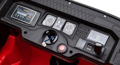 Accu Auto Mercedes Actros Truck 4X4 12V Wit Rubber Banden-3