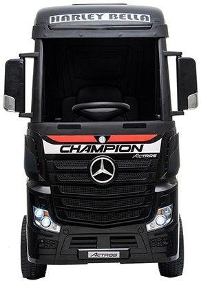 Accu Auto Mercedes Actros Truck 4X4 12V Zwart Metallic Rubber Banden