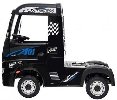 Accu Auto Mercedes Actros Truck 4X4 12V Zwart Metallic Rubber Banden-1