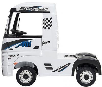 Accu Auto Mercedes Actros Truck 4X4 12V Wit Rubber Banden-1