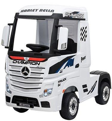 Accu Auto Mercedes Actros Truck 4X4 12V Wit Rubber Banden