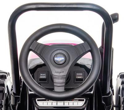 Accu Tractor met aanhanger 12V Roze 2,4G-5