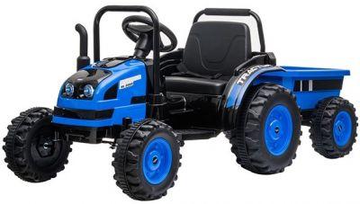 Accu Tractor met aanhanger 12V Blauw 2,4G
