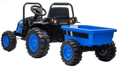 Accu Tractor met aanhanger 12V Blauw 2,4G-2