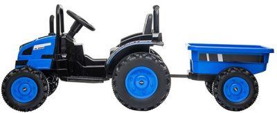 Accu Tractor met aanhanger 12V Blauw 2,4G-1