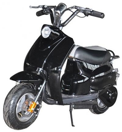 Mini Scooter Classic Zwart-Zwart 350W 36V 3 Speed