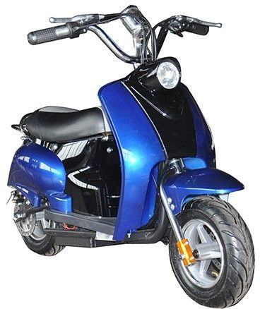 Mini Scooter Classic Blauw-Zwart 350W 36V 3 Speed