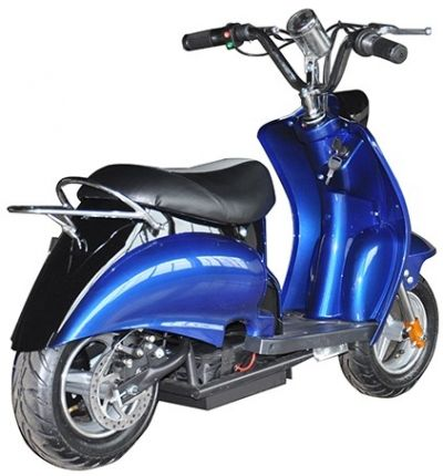 Mini Scooter Classic Blauw-Zwart 350W 36V 3 Speed-1