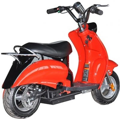 Mini Scooter Classic Rood-Zwart 350W 36V 3 Speed-2
