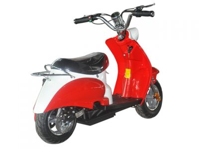 Mini Scooter Classic Rood 350W 36V 3 Speed-1