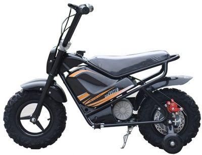 Mini Scooter Monkey Zwart 24V 250Watt Afneembare Zijwieltjes-1