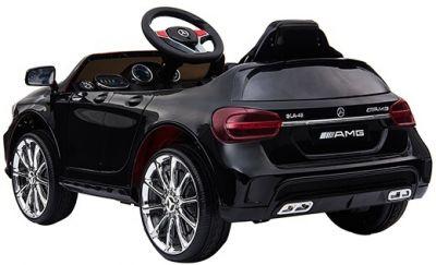 Accu Auto Mercedes GLA45 AMG Zwart 12V 2,4G Lederen Stoel Rubber Banden-1