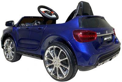 Accu Auto Mercedes GLA45 AMG Blauw Metallic 12V 2,4G Rubber Banden-1
