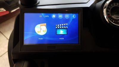 Accu Auto Mercedes Unimog 4X4 MP4-TV Mat Zwart 2 Persoons Rubber Banden-2