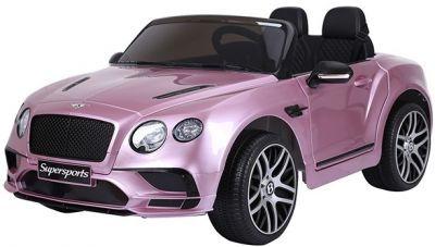 Accu Auto BENTLEY Continental SuperSport 2 persoons Roze Metallic 12V Rubber Banden