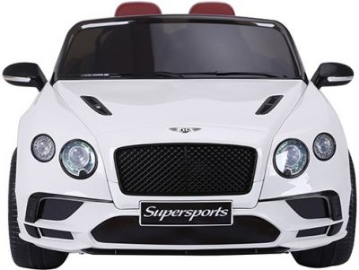 Accu Auto BENTLEY Continental SuperSport 2 Persoons Wit 12V Rubber Banden