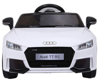 Accu Auto Audi TTRS Wit 12V Lederen Stoel Rubber Banden