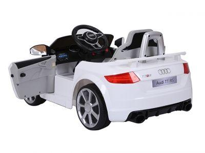 Accu Auto Audi TTRS Wit 12V Lederen Stoel Rubber Banden-2