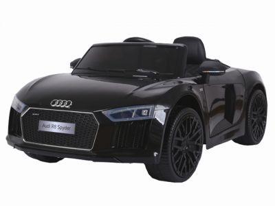 Accu Auto Audi R8 Zwart Metallic 12V Met Deuren Rubber Banden