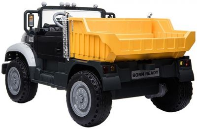 Accu Mack Truck Zwart Metallic 12V 2 Persoons 2,4g Rubber Banden-1
